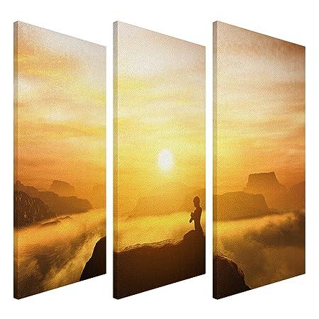 PPS. Imaging Lienzo Yoga Meditación tríptico I, tamaño: 100 ...