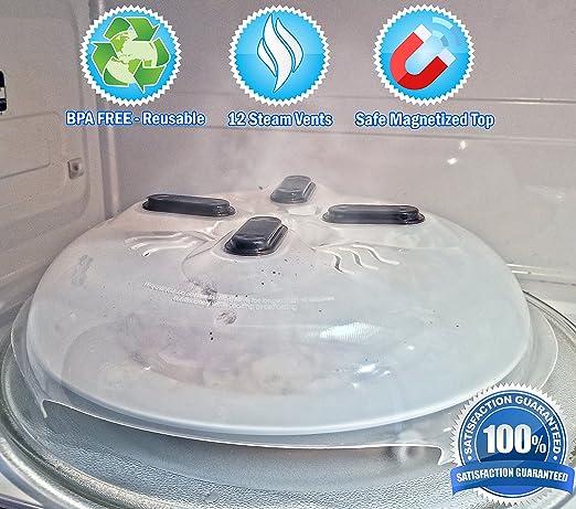Protector magnético para tapa de alimentos para microondas con ...