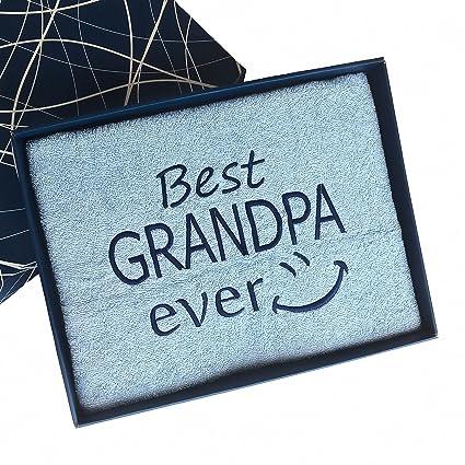 Mejor abuelo nunca – bordado toalla de baño – 1st Class calidad 100% algodón,