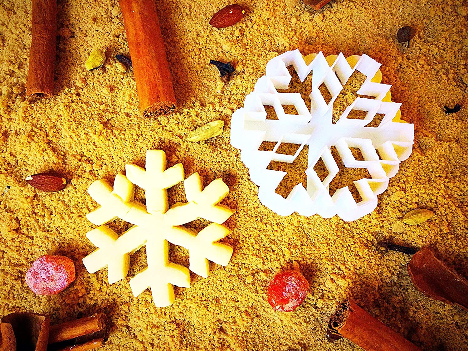 Snowflake Cookie Cutter - Winter Presents for Kids - Christmas Cutters for Cookies Jar - Small Unique Xmas Present Shapes - Biscuit Baking Mold - 3.5inch - Eco Friendly by Sugary Charm