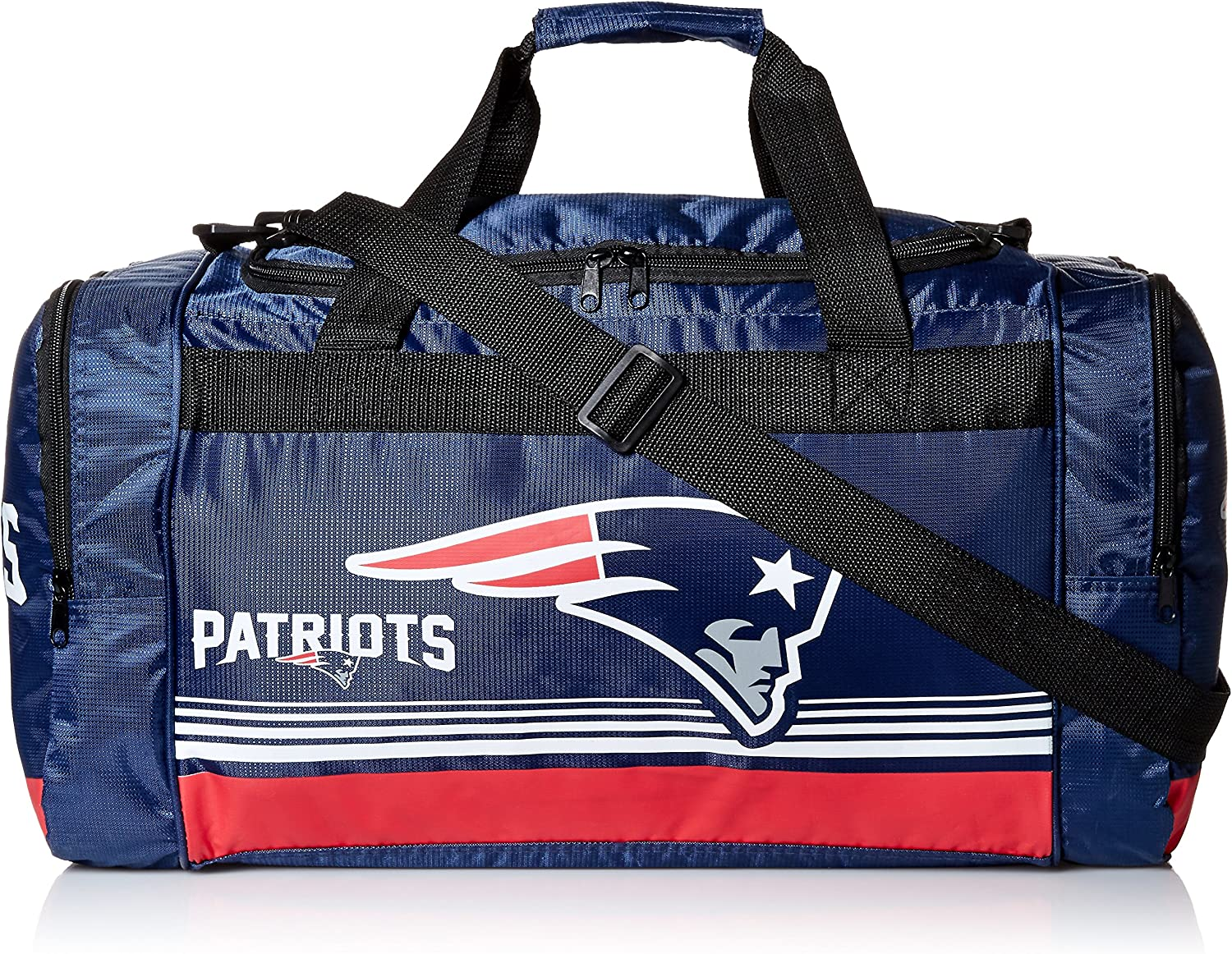 New England Patriots Medium Striped Core Duffle Bag