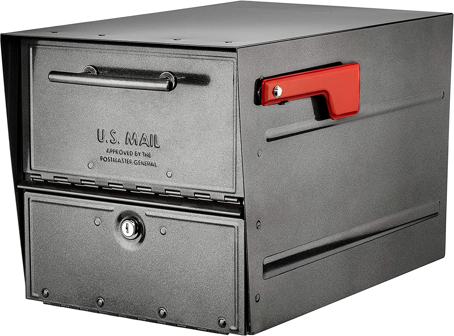 Architectural Mailboxes 6400P-R-10 Oasis Eclipse Locking Mailbox, Pewter