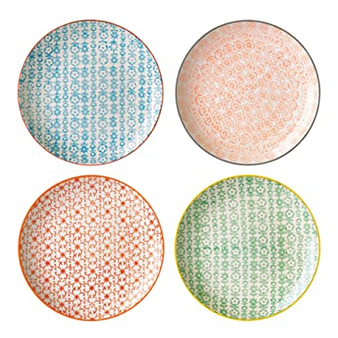 Bloomingville 8'' Accent Plates Carla Set of 4 Styles