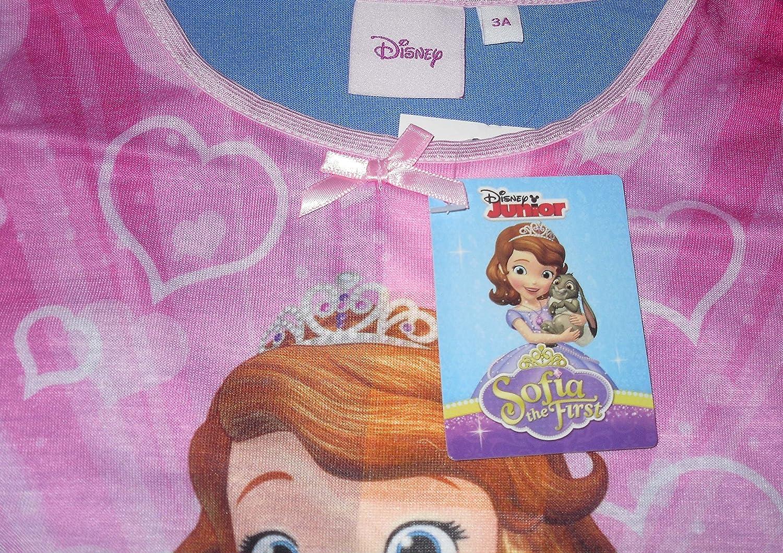 Disney Sofia Girls Nightie Pyjamas Long Sleeved 2-6 Years