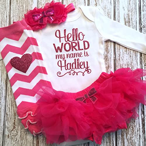 282e3b05d Amazon.com  Take Home Outfit Baby Girl Outfit Personalized Name Hot ...