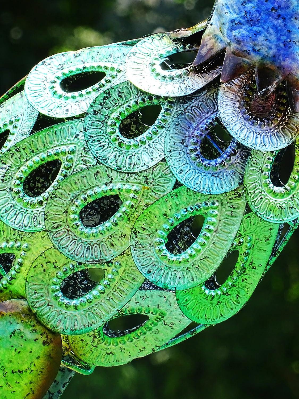 Christmas Concepts/® 76cm Colorful Metal Pavone con piume di gioiello Decorazione da giardino interno//esterno