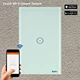 Alexa Smart Wi-Fi Wall Switch,Touch Screen Switch Glass Panel Remote Control Lights and Appliances Timer with smartphone, Compatible with Alexa (Android 4.1 / iOS 8.0 Above) (1 Gang) Kaito KA401