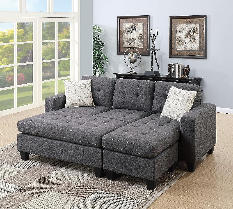 Amazon.com: Esofastore Modern Living Room Bobkona All in One ...