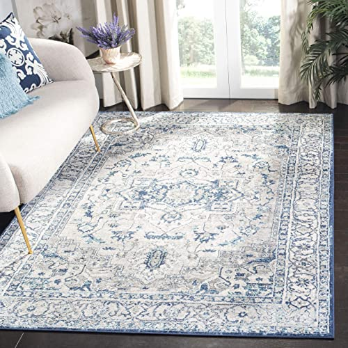 Safavieh Brentwood Collection BNT851G Medallion Distressed Area Rug