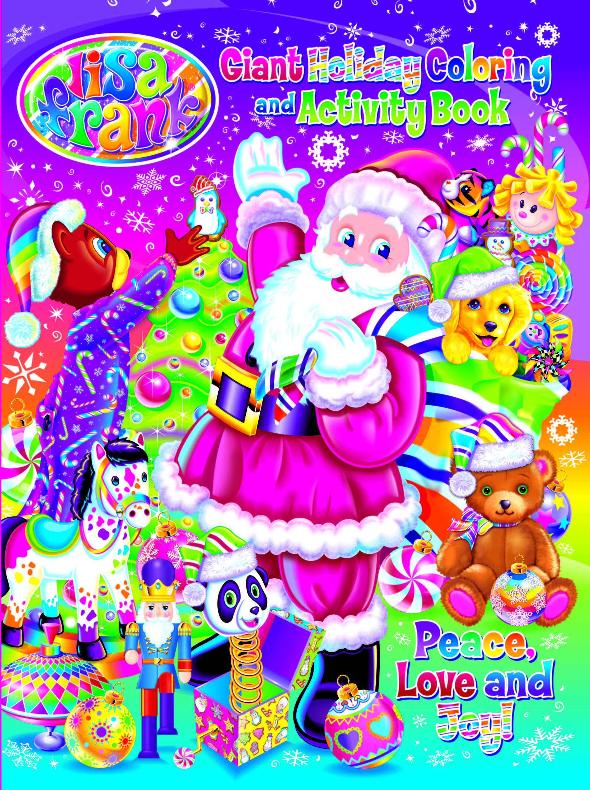 Lisa Frank Peace Love And Joy Holiday Giant Coloring Activity Book Modern Publishing 0812375094368 Amazon Books