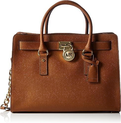Michael Kors Women's Hamilton Large Saffiano Leather Satchel Top handle Bag