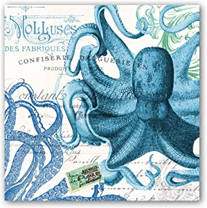 Michel Design Works 20-Count 3-Ply Paper Luncheon Napkins, Octopus