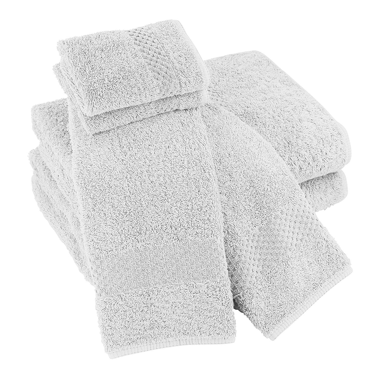 Luxor Linens Sylvano Hotel 100% Giza Combed Egyptian Cotton 700 GSM Luxury Solid 6-Piece Spa Towel Sets - Durable, Plush & Absorbent - Made in Portugal - 15 ...