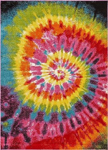 Well Woven Viva Woodstock Modern Boho Swirls Multi Bright Area Rug 7 10 x 9 10