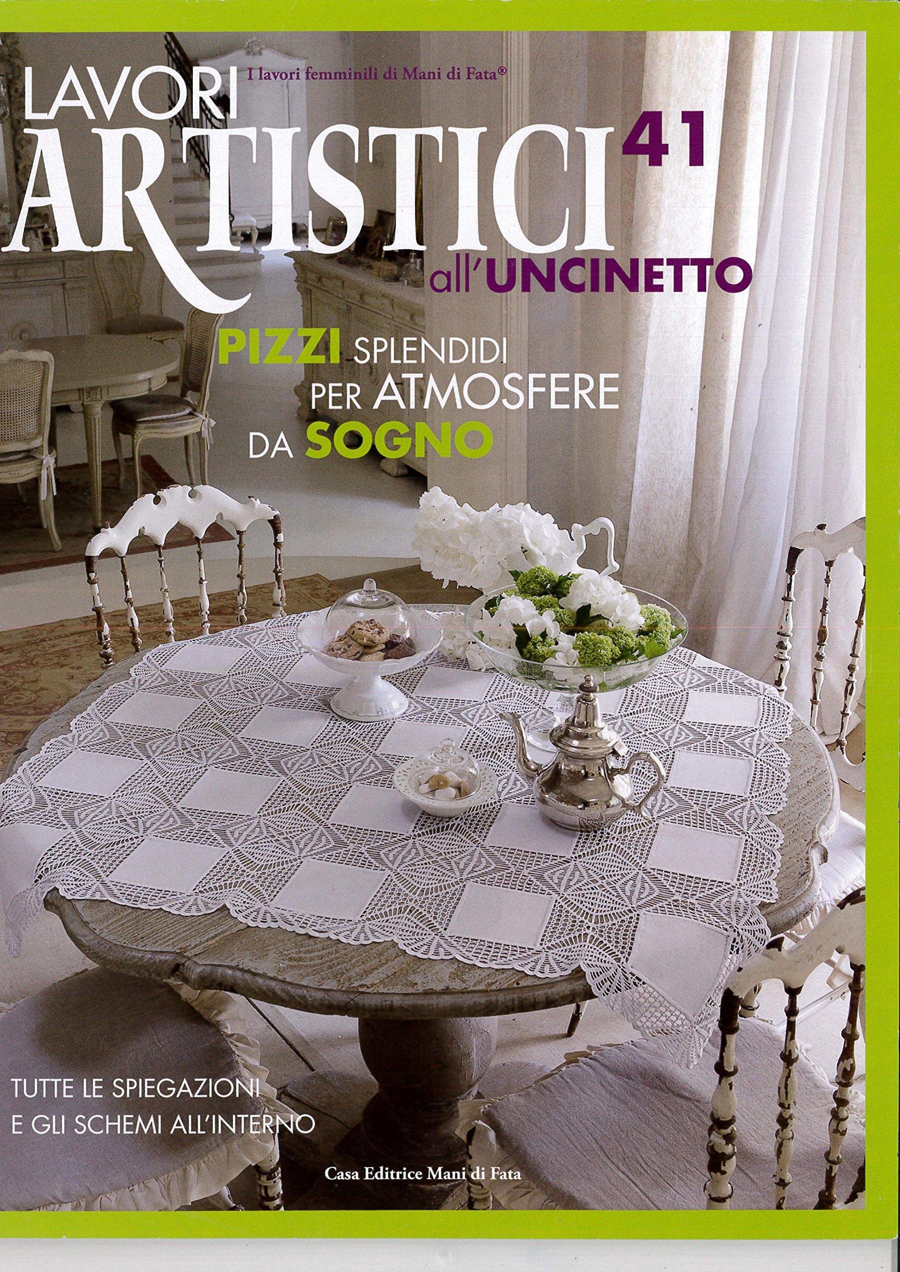 Lavori Di Uncinetto.Amazon It Lavori Artistici All Uncinetto 41 Casa Editrice Mani