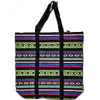 sha Unisex Large Jute Cotton Eco Friendly Tote Bag (Black)