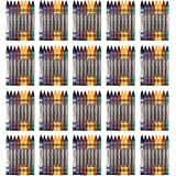AmazonBasics Crayons - 8 Assorted Colors, 25-Pack
