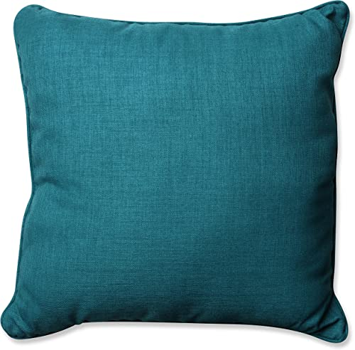 Pillow Perfect Outdoor Indoor Rave Floor Pillow, 25 , Solid, Teal Blue