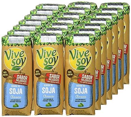 Vivesoy Soja Natural - 7 Paquetes de 3 x 250 - Total: 5.25 l: Amazon.es: Alimentación y bebidas