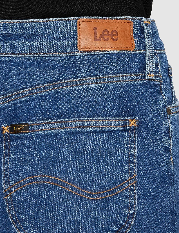 Lee Damen Straight Jeans Bleu (Mystic Stone Ji)