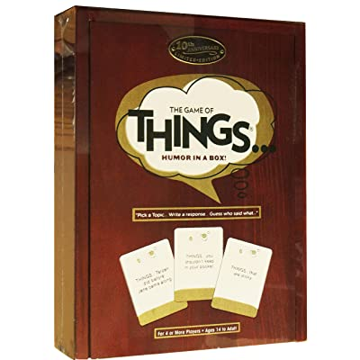 The Game of Things.. Humor in a Box! 10th Anniversary Limited Edition Wood Book Collection: Toys & Games