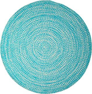 product image for Colonial Mills Kaari Tweed Round Indoor/Outdoor Braided Area Rug, 7' x 7', Aqua