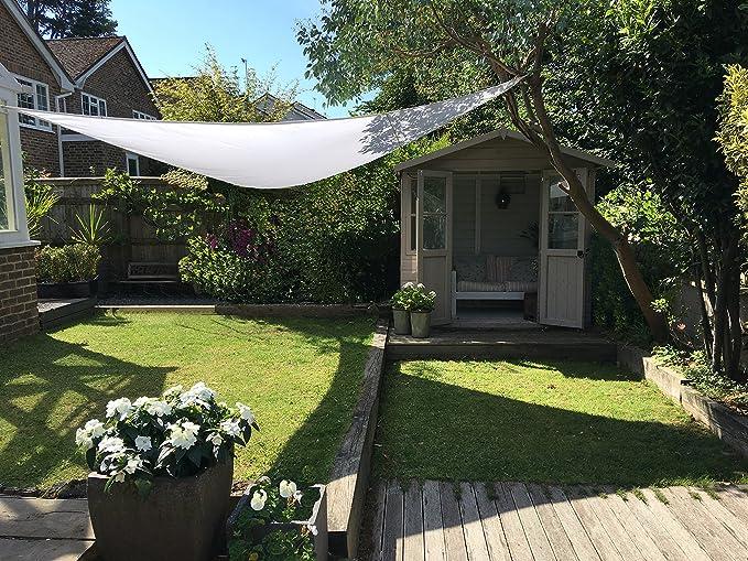 Clara Shade Sail Toldo Vela blanco impermeable sol vela de sombra para jardin impermeable UV Canopy (Triangle 3m): Amazon.es: Jardín