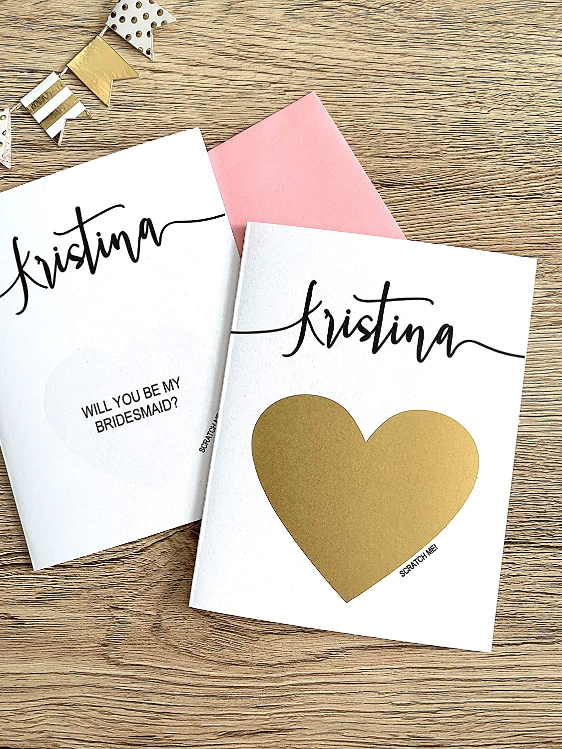 Personalized Will You Be My Bridesmaid Scratch Off Card Flourish