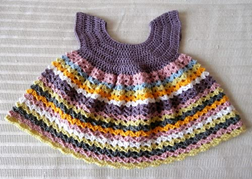 Robe Chasuble Multicolore Bébé Fille Layette Cadeau