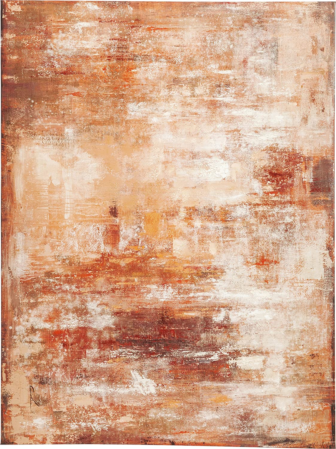 Kare Bild Touched Abstract 90 x 120cm, Holz, Rot, 3.5 x 120 x 90 cm