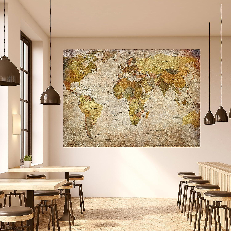 livingdecoration Papel Pintado Mapa Mundi 183 x 127 cm Vintage histórico Viejo países worldmap Fotomurales Incluyendo Pegamento: Amazon.es: Hogar