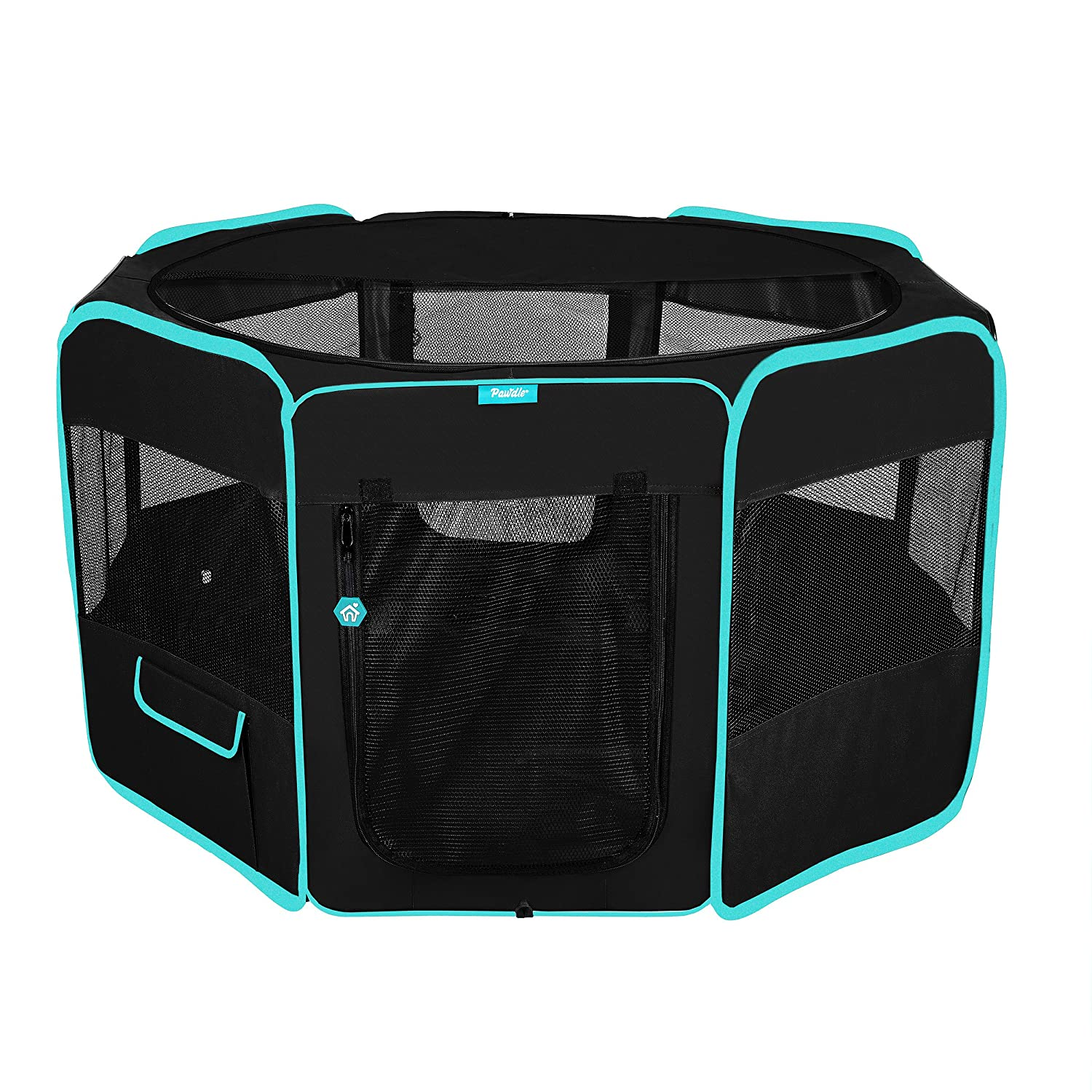 Black L Black L DELUXE PREMIUM Pet Dog Playpen Portable Soft Dog Exercise Pen Kennel with Carry Bag for Dogs, Cats, Kittens, and all Pets (Large, Black)