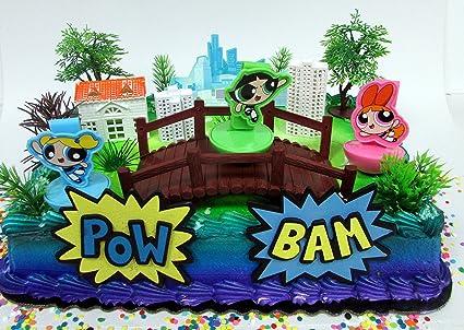 Amazon.com: Powerpuff Girls tarta de cumpleaños conjunto con ...