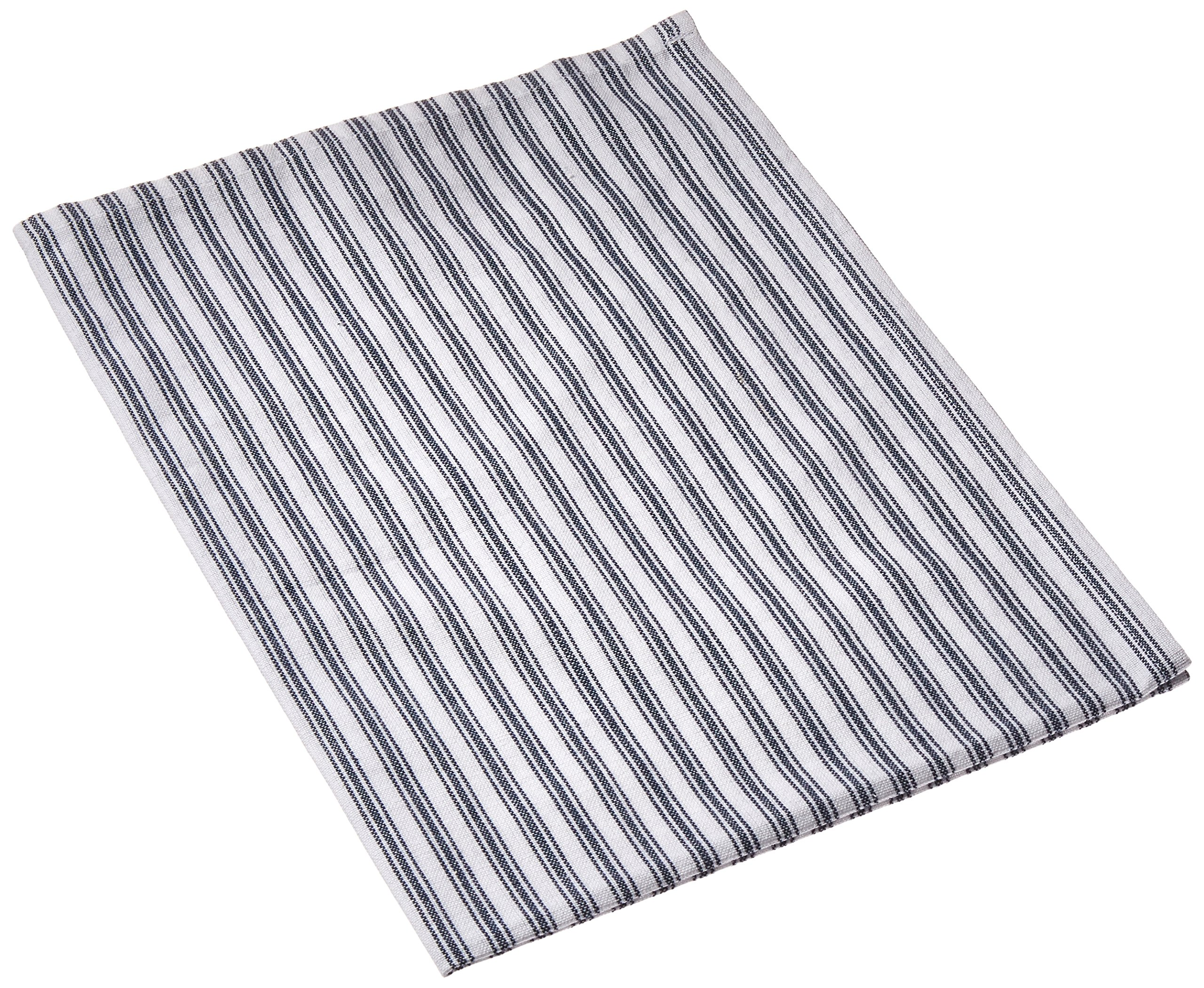 Dunroven House DRHK311.N Ticking Navy/White Blue Towel, 20'' by 28''