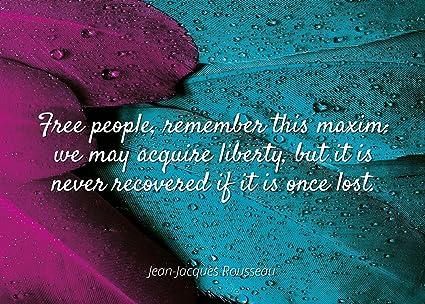Amazon.com: Home Comforts Jean-Jacques Rousseau - Famous ...