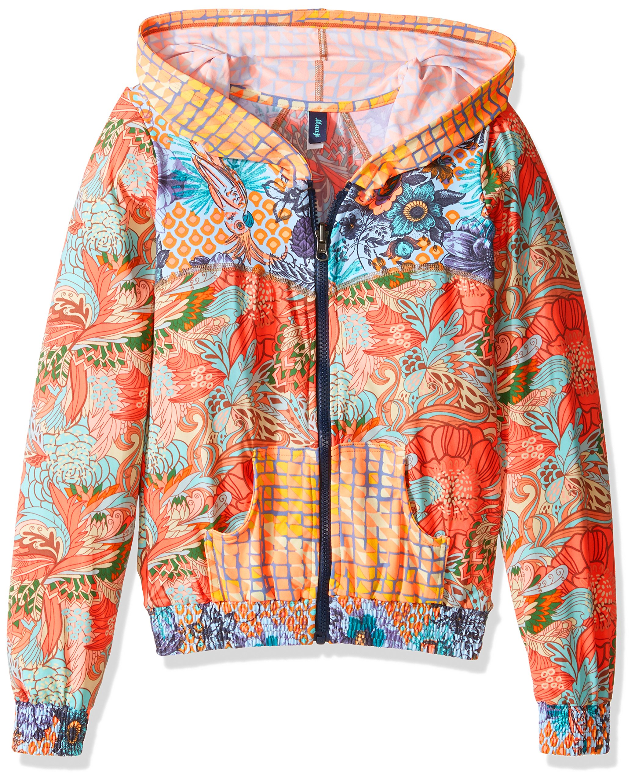 Maaji Big Girls' Rainbow Peach Raspberry Plum Jacket, Multi, 12 by Maaji