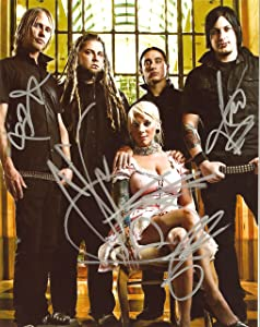 In This Moment full band signed autographed reprint photo #1 RP Maria Brink