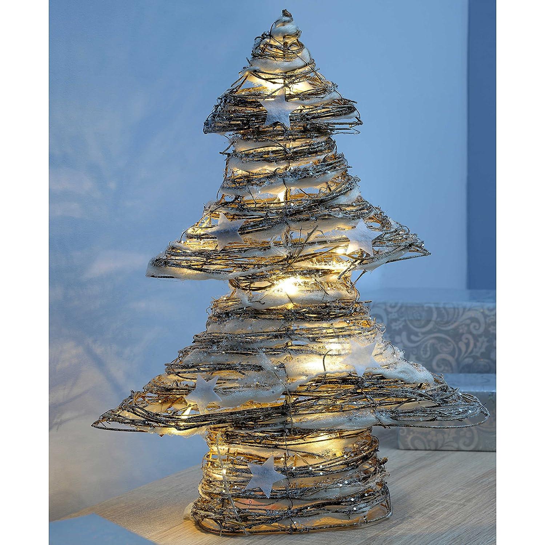 Qvc Weihnachtsbeleuchtung Kabellos.Werchristmas Pre Lit Weihnachtsdekoration Rattan Weihnachtsbaum Mit