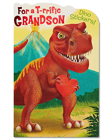 American Greetings Dinosaur Valentineu0027s Day Card With Stickers (5815767)