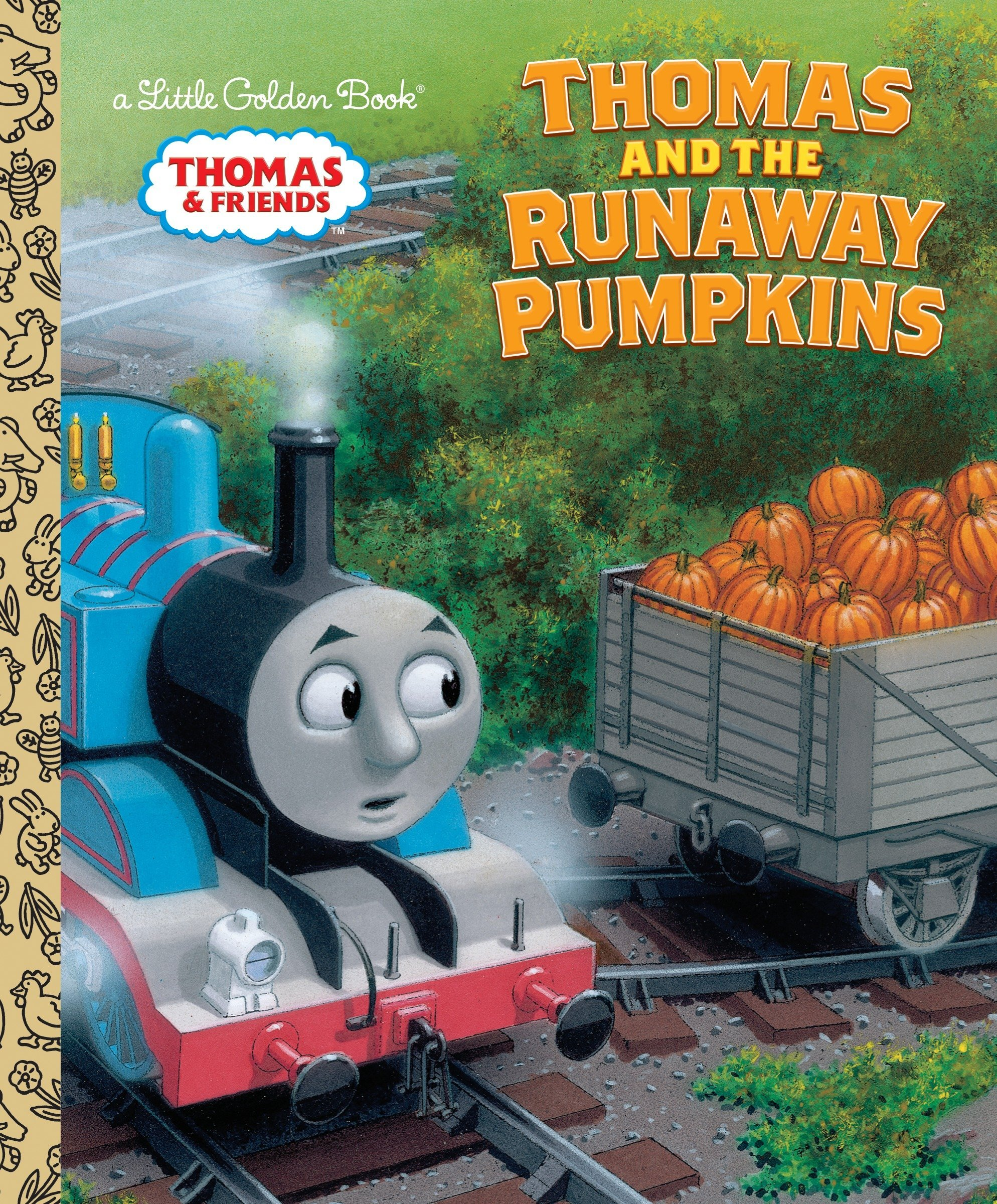 Thomas and the Runaway Pumpkins (Thomas & Friends) (Little Golden Book) Hardcover – July 31, 2018 Naomi Kleinberg Richard Courtney Golden Books 0385373910