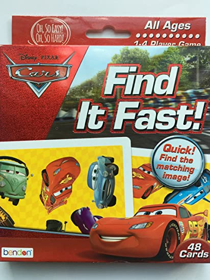 Disney Cars Find It Fast Card Game 48 Cards