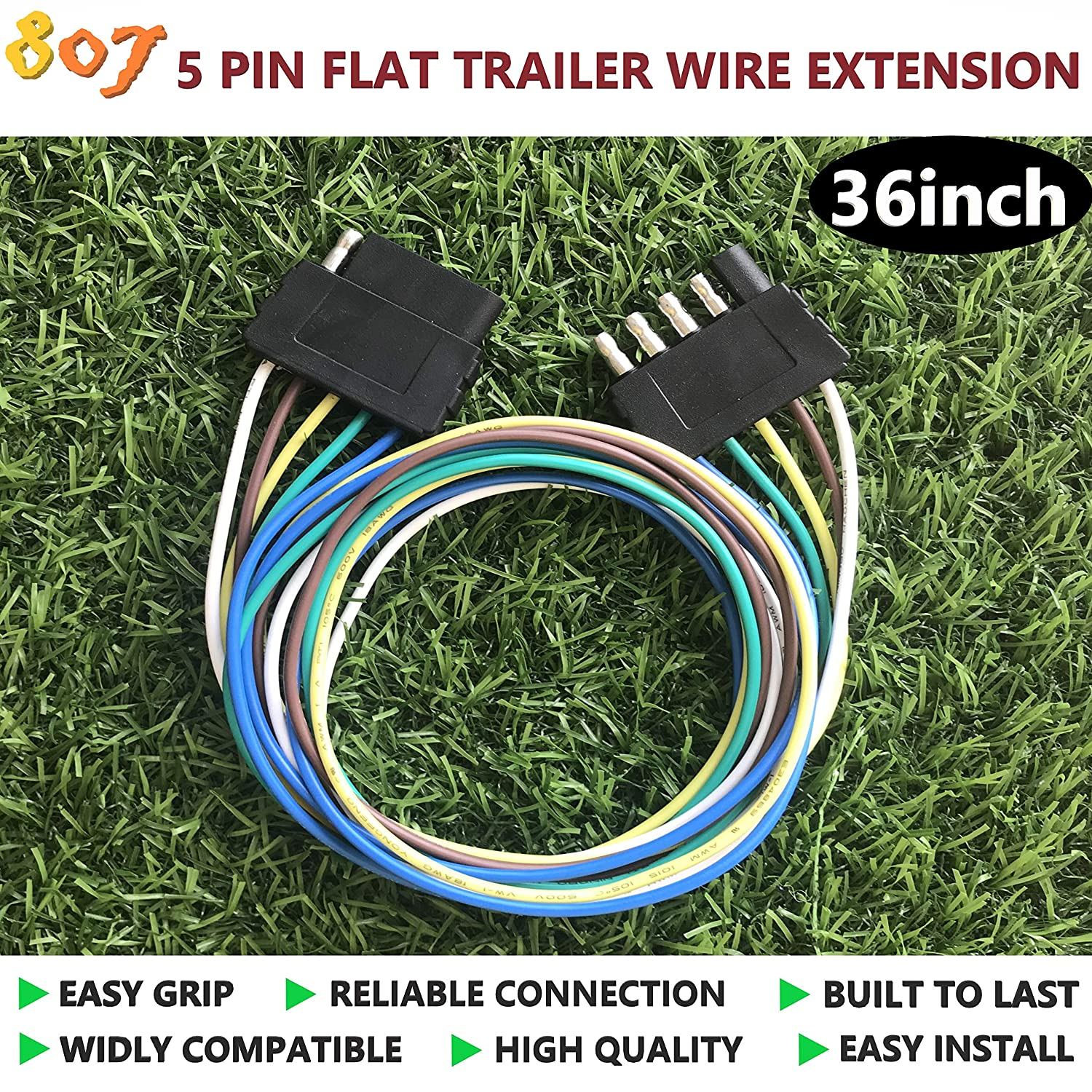 807 5-pin Trailer Wire Extension 36inch for LED ke Tailgate Light  on