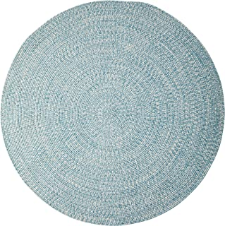 product image for Colonial Mills Kaari Tweed Round Indoor/Outdoor Braided Area Rug, 7ft 10in X 10ft 10in, Sand,Blue