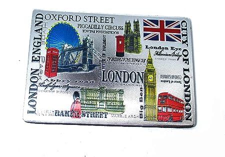 Londres Inglaterra recuerdo Unión Jack imanes, juego de cerámica ...