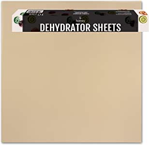 Homey 10-Pack Flexible Reusable and Resizable Non Stick Teflon Food Dehydrator Sheets, 14x14-Inches
