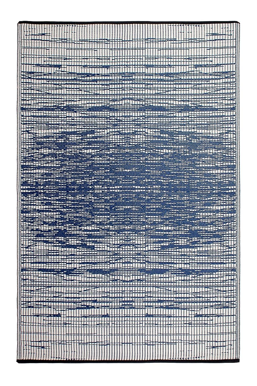 Fab Hab - Brooklyn - Blau - Teppich  Matte für den Innen- und Außenbereich (150 cm x 240 cm)