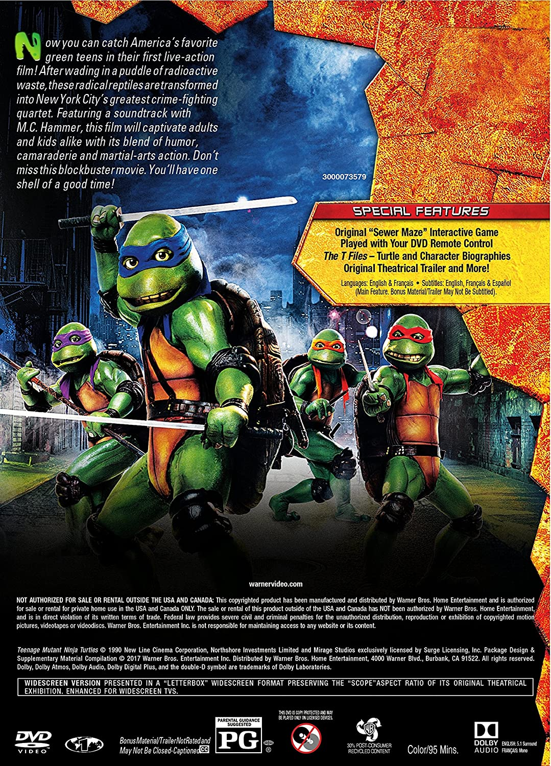 Teenage Mutant Ninja Turtles 1990 Edizione: Stati Uniti ...