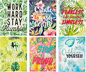 Motivational File Folders with Tropical Palm Tree Design (12 x 9.25 Inches, 12-Pack)