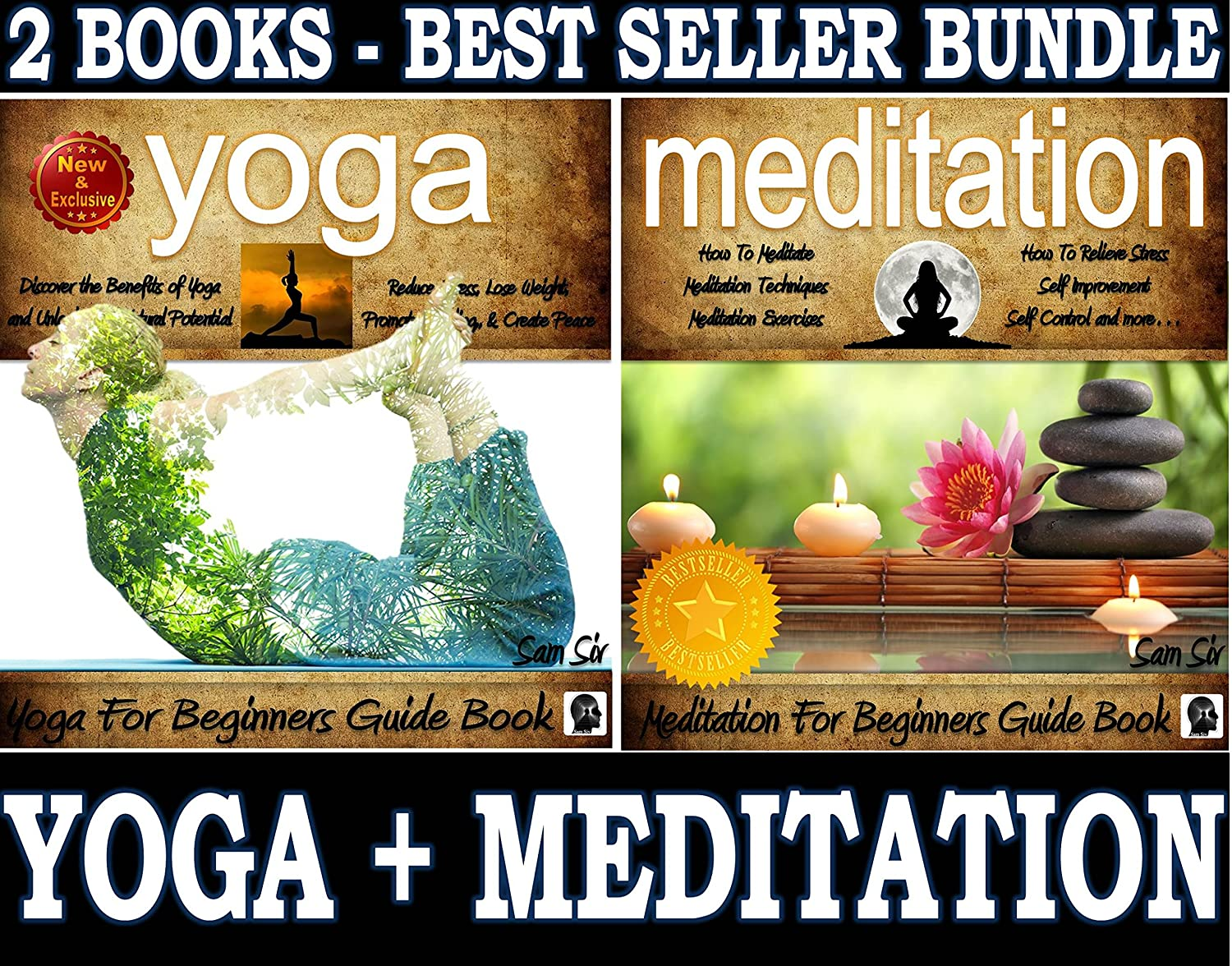 Yoga For Beginners and Meditation For Beginners Book Boxed ...