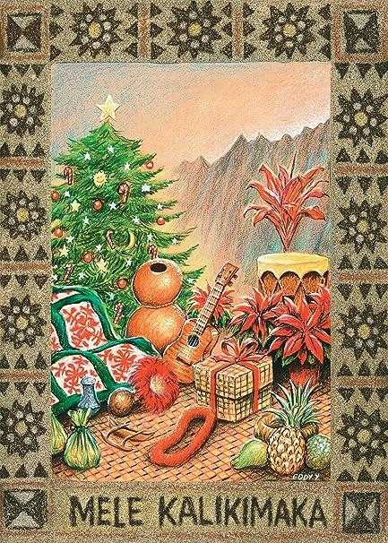 Mele Kalikimaka Christmas Cards.Hawaiian Christmas Cards 12 Na Makana The Gifts By